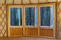 Windows of the yurt 2