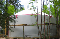 Insulation of the yurt