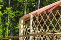 Frame of the yurt